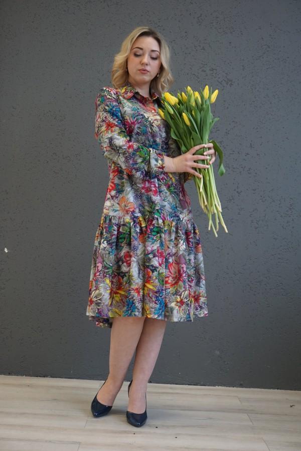 """Viskozinė suknelė """" Gėlių pieva"""""""
